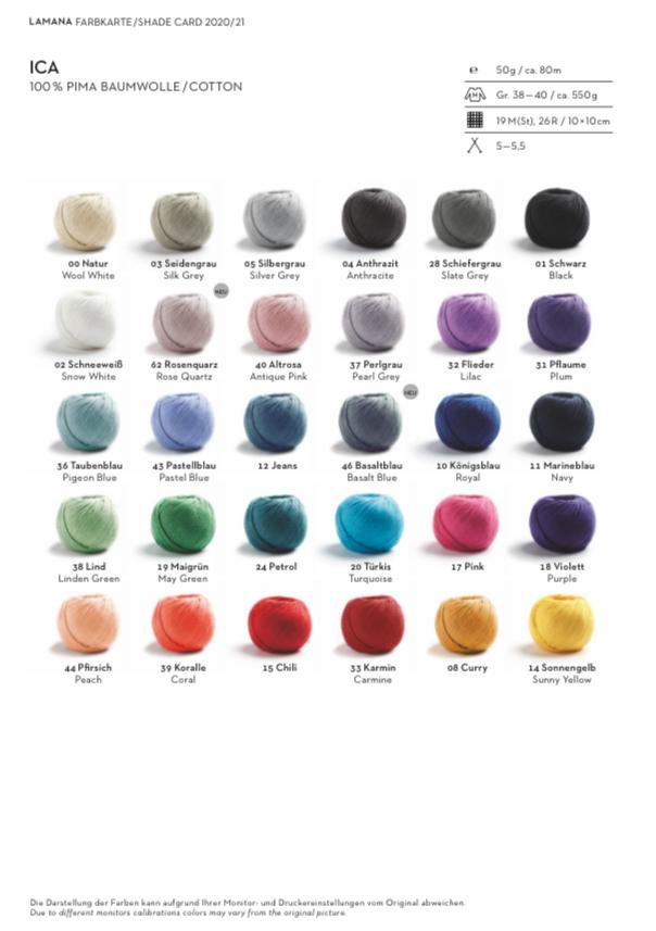 Colour card Lamana Ica